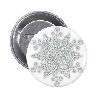 Snowflake Swirl 2 Inch Round Button