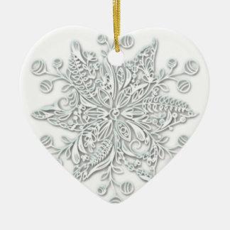 Snowflake Swirl Ceramic Ornament