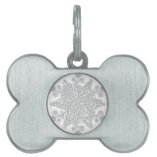 Snowflake Swirl Pet ID Tags