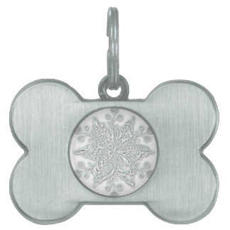 Snowflake Swirl Pet Name Tag