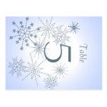 Snowflake Table Number Postcard