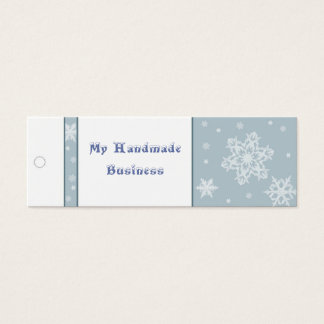 Snowflake Tag Mini Business Card