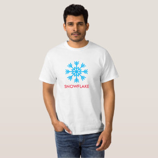 Snowflake text and icon printed on Value T-Shirt