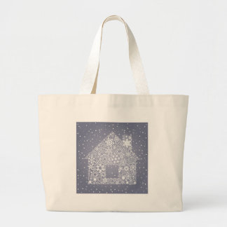 Snowflake the house large tote bag