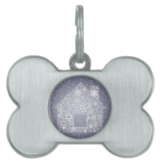 Snowflake the house pet ID tag