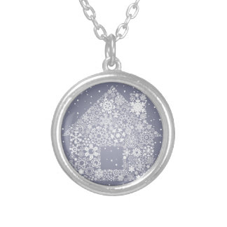 Snowflake the house silver plated necklace