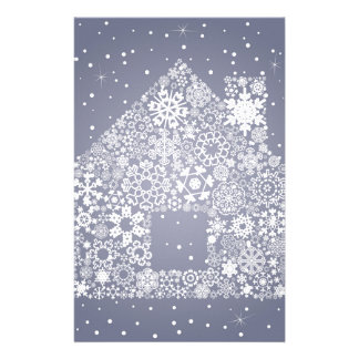 Snowflake the house stationery paper