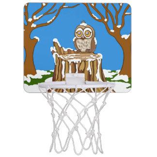 Snowflake the Owl Mini Basketball Hoop