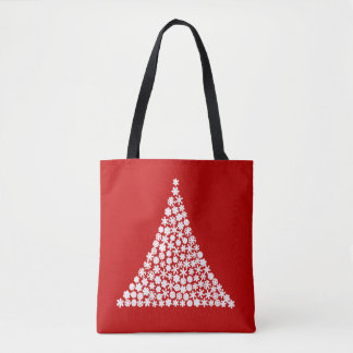 Snowflake Tree Christmas Tote Bag
