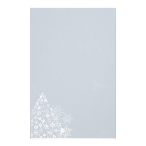 Snowflake Tree Stationary Custom Stationery