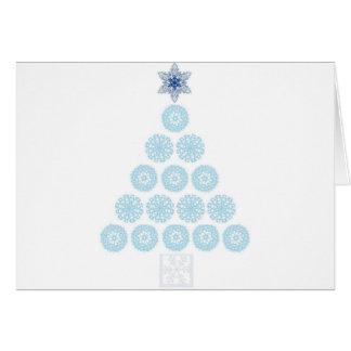 SNOWFLAKE TREES CARD