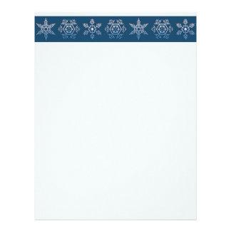 Snowflake Trio Christmas Letterhead