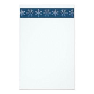 Snowflake Trio  Christmas Stationery
