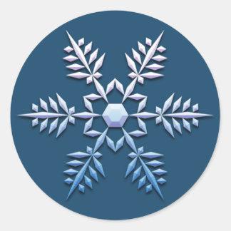 Snowflake Trio Christmas Stickers