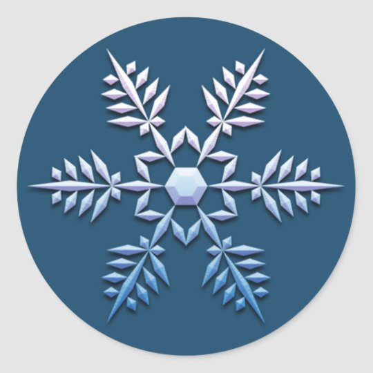 Snowflake Trio Christmas Stickers