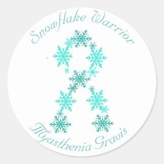 Snowflake Warrior  Myasthenia Gravis Sticker