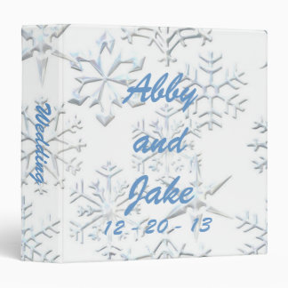 Snowflake Wedding Binder