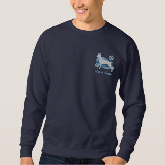 Snowflake Weimaraner Embroidered Sweatshirt