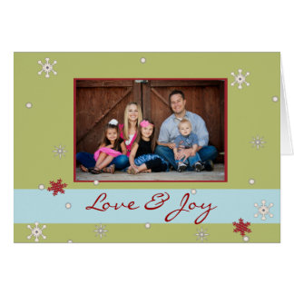 Snowflake Whimsy Folded Photo Card