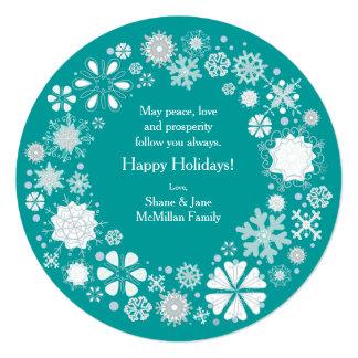 Snowflake Winter Holiday Greetings Card
