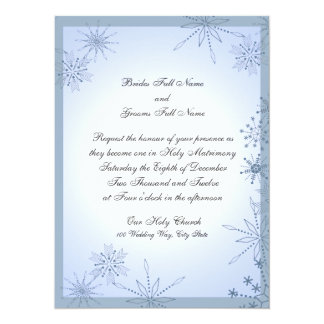 Snowflake Winter Ice Blue Card