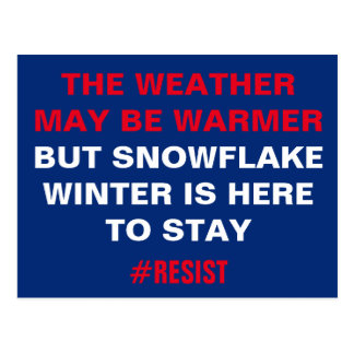 Snowflake Winter is Here to Stay Resistance Postcard