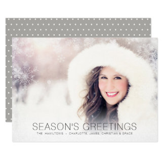 Snowflake Winter Overlay Christmas Personalized Card