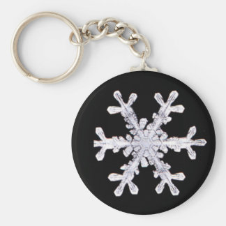 Snowflake Winter Snow Star Peace Love Destiny Basic Round Button Keychain