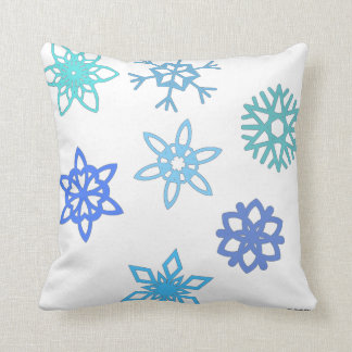 Snowflake Winter Themed Pillow Home Decor