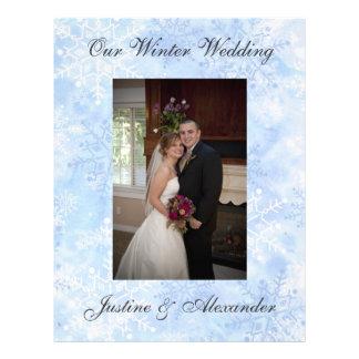 Snowflake Winter Wedding Custom Scrapbooking Paper Letterhead Template