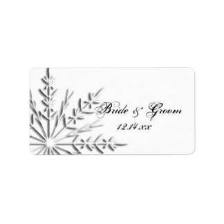 Snowflake Winter Wedding Favor Tag
