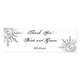 Snowflake Winter Wedding Favor Tags Mini Business Card