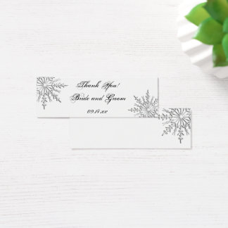Snowflake Winter Wedding Favor Tags Mini Business Card