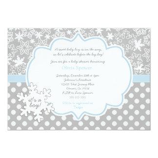 Snowflake Winter Wonderland baby shower invitation