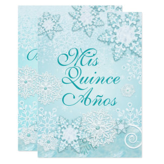 Snowflake Winter Wonderland Invitations