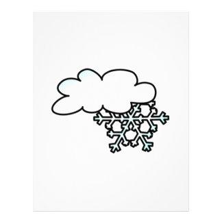 Snowflake with Cloud Letterhead Design
