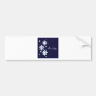 snowflake with diamonds_1 bumper sticker