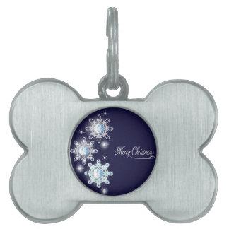snowflake with diamonds_1 pet tag
