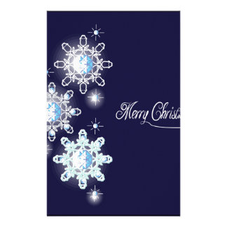 snowflake with diamonds_1 stationery design