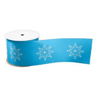 Snowflake Xmas Pattern Capri Holiday Christmas Satin Ribbon