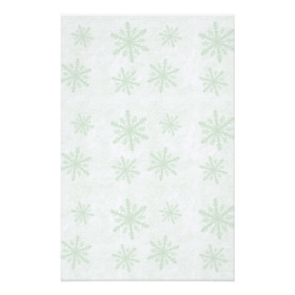 Snowflakes 1 Green - Stationery Design