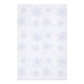 Snowflakes 1 - Original Blue & White Customized Stationery