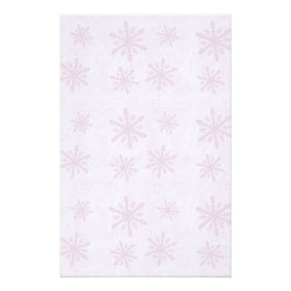 Snowflakes 1 - Pink - Stationery Paper