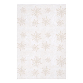Snowflakes 1 - Sepia Stationery Design