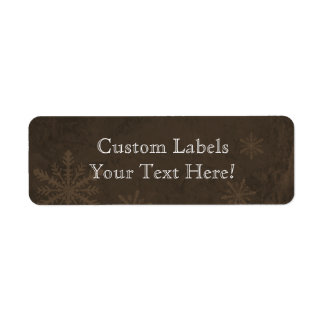 Snowflakes 4 - Original Dark Sepia Custom Labels