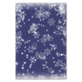 Snowflakes against a night sky tissue paper