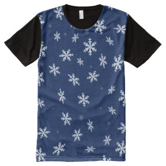 Snowflakes All-Over-Print T-Shirt