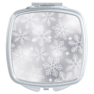 Snowflakes and lights mirrors for makeup