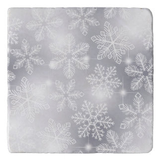 Snowflakes and lights trivet