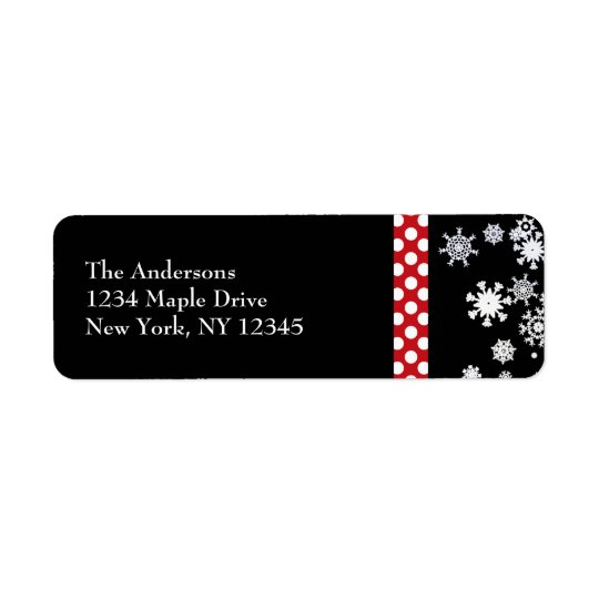Snowflakes and Polka Dots Christmas Labels